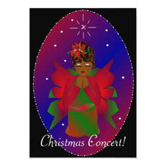 "Christmas Angel 5"" X 7"" Invitation Card"