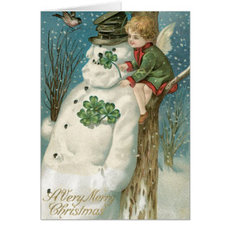 Christmas Angel and Snowman Card