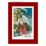 Christmas Angel at the Window Greeting Cards