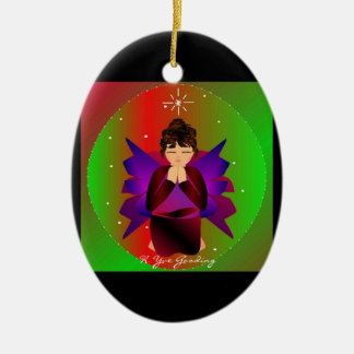 Christmas Angel Baby Around the World In Black I Ornaments