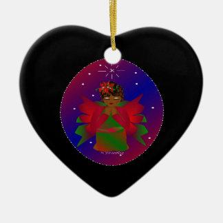 Christmas Angel Baby Around the World In Black III Christmas Ornaments