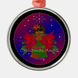 Christmas Angel Baby Around the World In Black IV Christmas Tree Ornaments