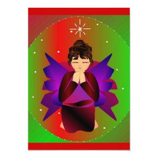 "Christmas Angel Baby Girl Praying 5"" X 7"" Invitation Card"