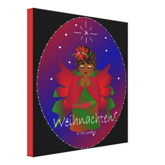Christmas Angel Baby Praying Weihnachten Canvas Print