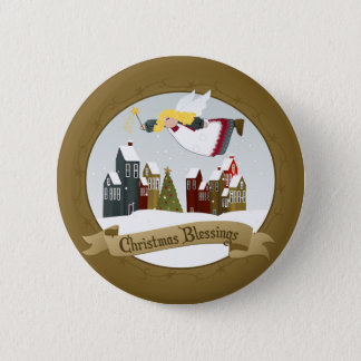 Christmas Angel Buttons / Pins