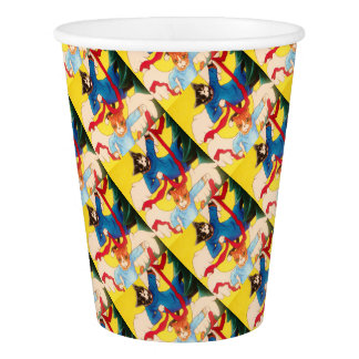 Christmas Angel Cherub Cats Paper Cup