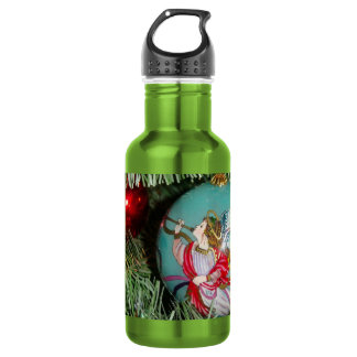 Christmas angel - christmas art -angel decorations 532 ml water bottle