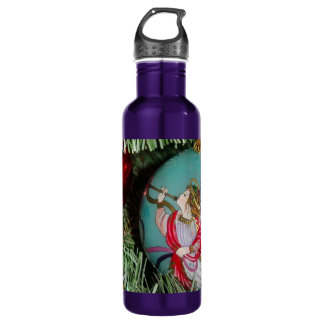 Christmas angel - christmas art -angel decorations 710 ml water bottle