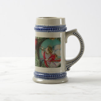 Christmas angel - christmas art -angel decorations beer stein
