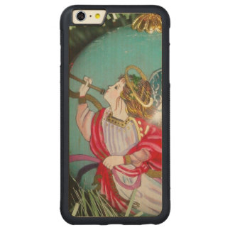 Christmas angel - christmas art -angel decorations carved maple iPhone 6 plus bumper case