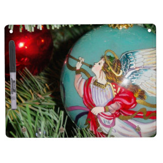 Christmas angel - christmas art -angel decorations dry erase board with key ring holder