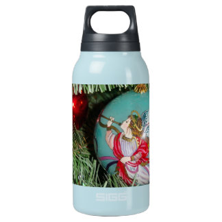 Christmas angel - christmas art -angel decorations insulated water bottle