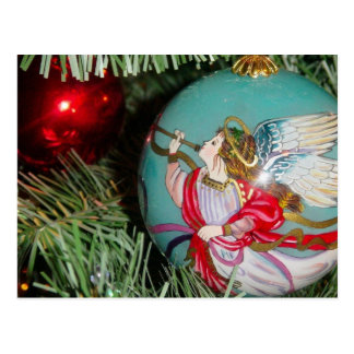 Christmas angel - christmas art -angel decorations postcard
