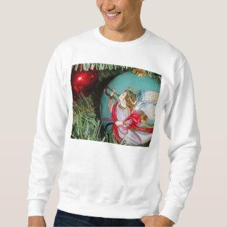 Christmas angel - christmas art -angel decorations sweatshirt