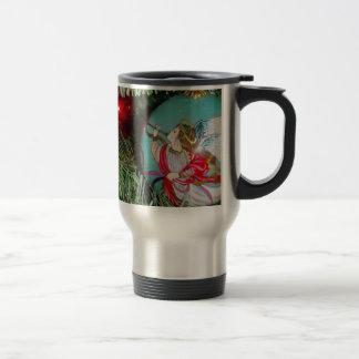 Christmas angel - christmas art -angel decorations travel mug