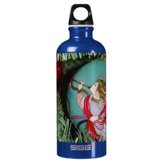 Christmas angel - christmas art -angel decorations water bottle
