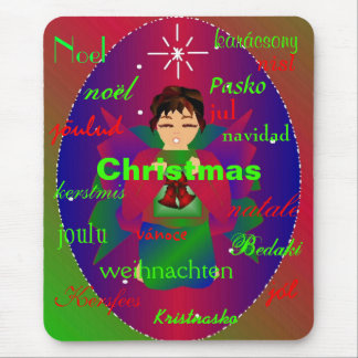 """""""Christmas Angel From Around The World I Mousepad"""