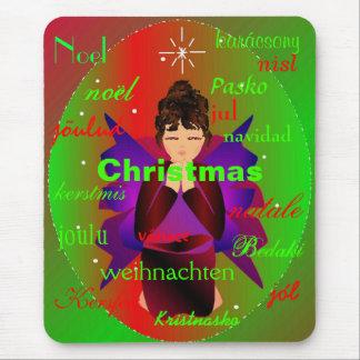 """Christmas Angel From Around The World II Mousepad"