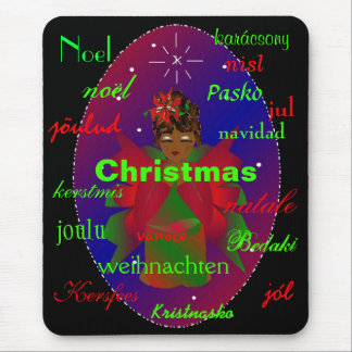 """""""Christmas Angel From Around The World Mousepad"""