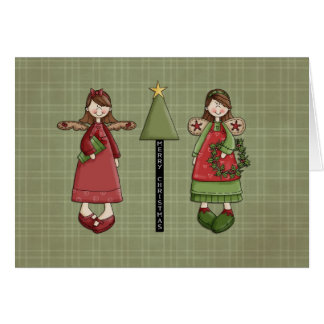 Christmas Angel Girls Card