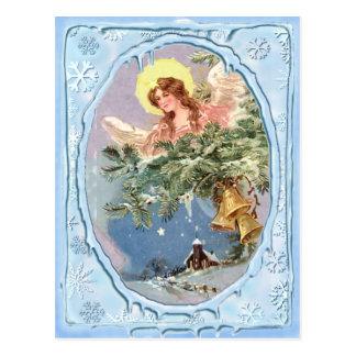CHRISTMAS ANGEL & ICICLES by SHARON SHARPE Postcard