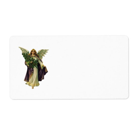 Christmas Angel Label