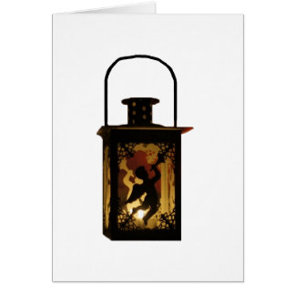 Christmas Angel Lantern Card