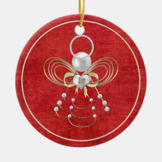 Christmas Angel of Joy - Red Ornament