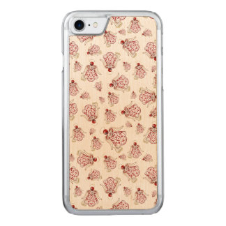 Christmas Angel of Song Holiday Collage Pattern Carved iPhone 8/7 Case