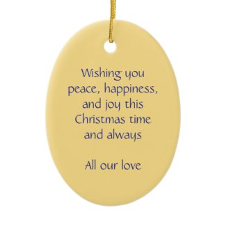 Christmas angel peace, happiness and joy ornament ornament