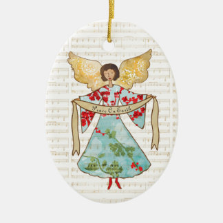 Christmas Angel Personalized Ceramic Ornament