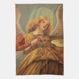 Christmas Angel Playing Violin Melozzo da Forli Tea Towel