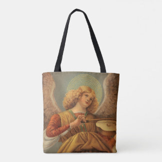 Christmas Angel Playing Violin Melozzo da Forli Tote Bag