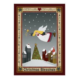 Christmas Angel Poster