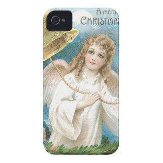Christmas Angel ringing a bell iPhone 4 Case