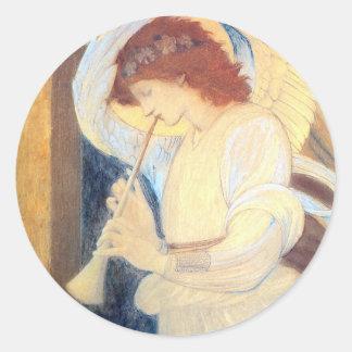 Christmas Angel Stickers Burne-Jones  Gold White