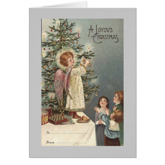 christmas angel vintage card