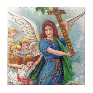 Christmas_angel_with_cross_1914.jpg Ceramic Tile