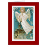 Christmas Angel with trumpets Card