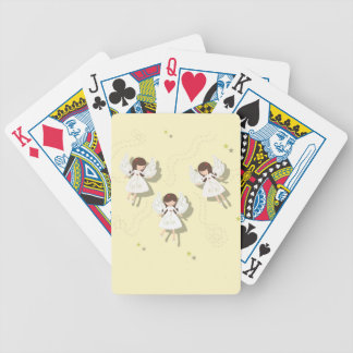 Christmas angels bicycle playing cards