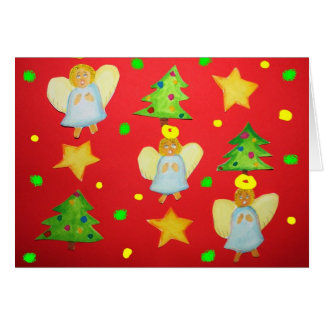 Christmas angels card