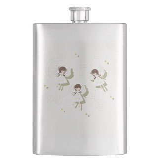 Christmas angels hip flask