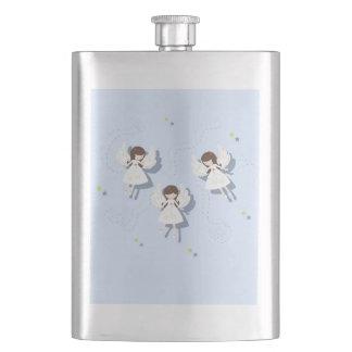 Christmas angels hip flask