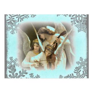 Christmas Angels holiday postcard