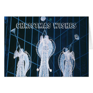 Christmas angels in the night greeting card