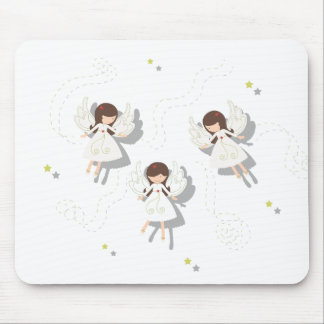 Christmas angels mouse pad