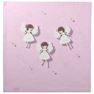 Christmas angels napkin