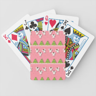 Christmas angels pattern bicycle playing cards