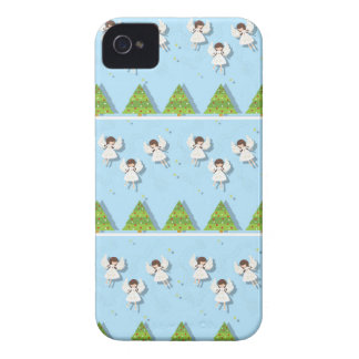 Christmas angels pattern Case-Mate iPhone 4 case