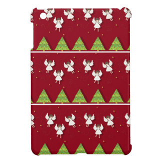 Christmas angels pattern iPad mini cases
